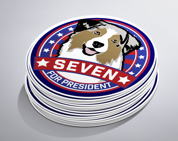 Seven For President Stickers